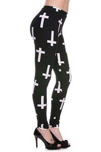 Holy Crosses Plus Fashion Leggings - Du North Designs