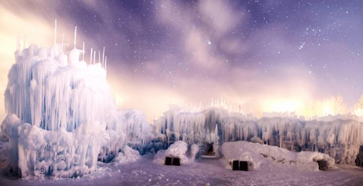 The   largest ice castle in Canada is open in Edmonton: