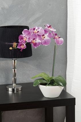 Vaso C/Orquidea 3C Sort D18,5xA40cm| Plantas/Flores Artificiais Decorativas | Utilidades Domésticas |Vasos com plantas | Marmair http://www.marmair.pt/detalhe.php?p=5031 € 19,95