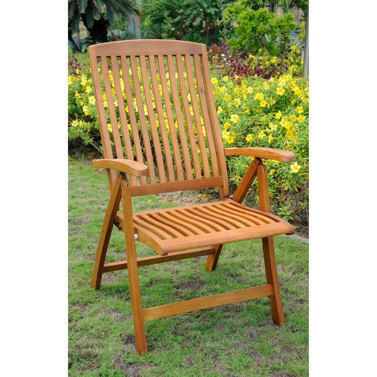 International Caravan Royal Tahiti U0027Sarragossau0027 Contoured 5 Position  Folding Arm Chair (Set