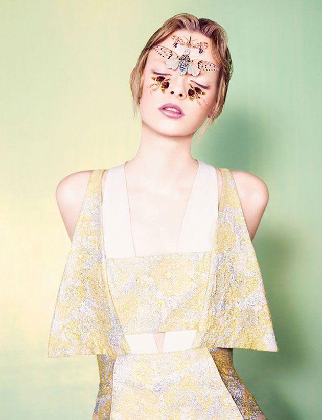 http://ftape.com/media/?p=37860: Editorial, Ben Toms, Makeup Artists, Dazed And Confusion, Fashion Design, Elza Luijendijk, Butterflies Effects, June 2012, Butterflies Beautiful