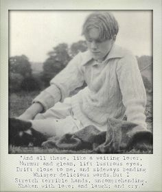 POETIC POLAROID | RUPERT BROOKE .  English poet.