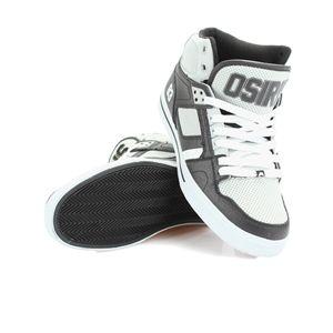 Osiris San Antoniio NYC83 High Tops - Black White Grey - Online Clothing Fashion Boutique Picanini