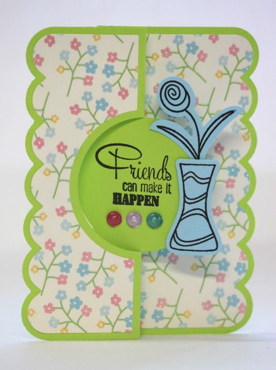a quick card with sizzix flip-its