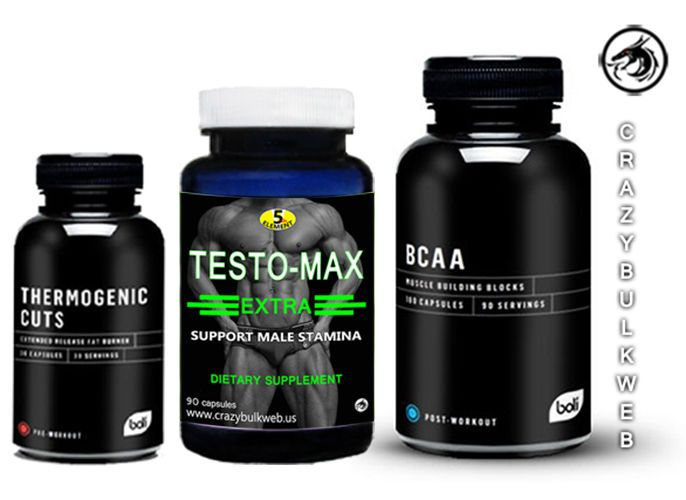 TESTO- MAX EXTRA   THERMO CUTS FAT BURNER  &  BCAA  ULTIMATE POWER FORMULA #BOLI5thElement
