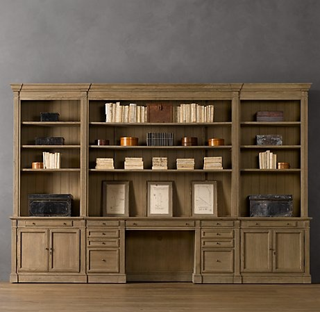 Library Desk Wall System Restoration Hardware Office Ideas Pinterest And