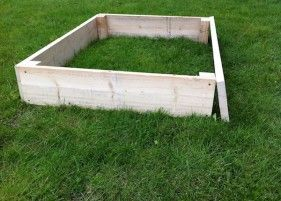 Raised bed kit - made from reclaimed scaffold boards