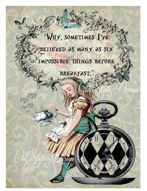 ALICE in Wonderland Decor Shabby Chic Decor. by OldStyleDesign