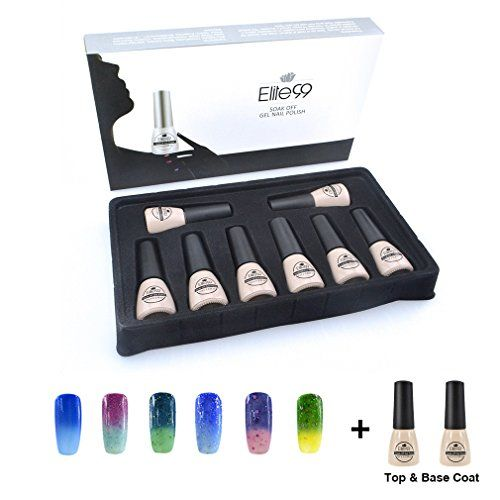 Nail Color Ideas Qimisi 8 x 7ML (Pick Any 6 Colors   Top Base Coat Set) Soak Off Gel Nail Polish Thermal Changing Colour Nail Lacquers Maniure Gift Set >>> You can find more details by visiting the image link.