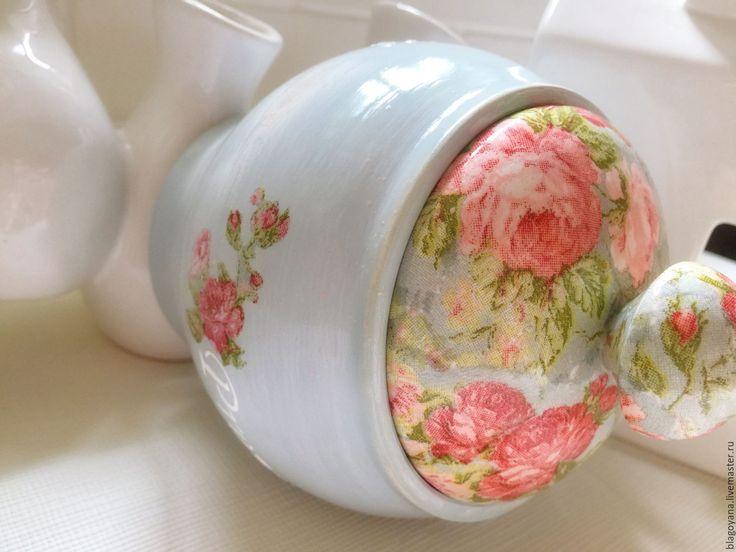 """Купить Горшочек """"Прованс"""" - горошек, чугунок, баночки для специй, баночка для чая, баночка для кофе"""