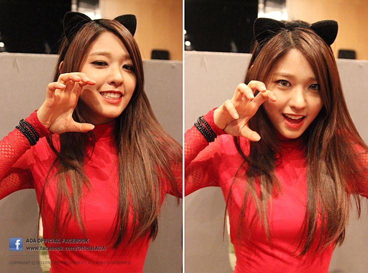 AOA Seolhyun (she kinda looks like Naeun here)