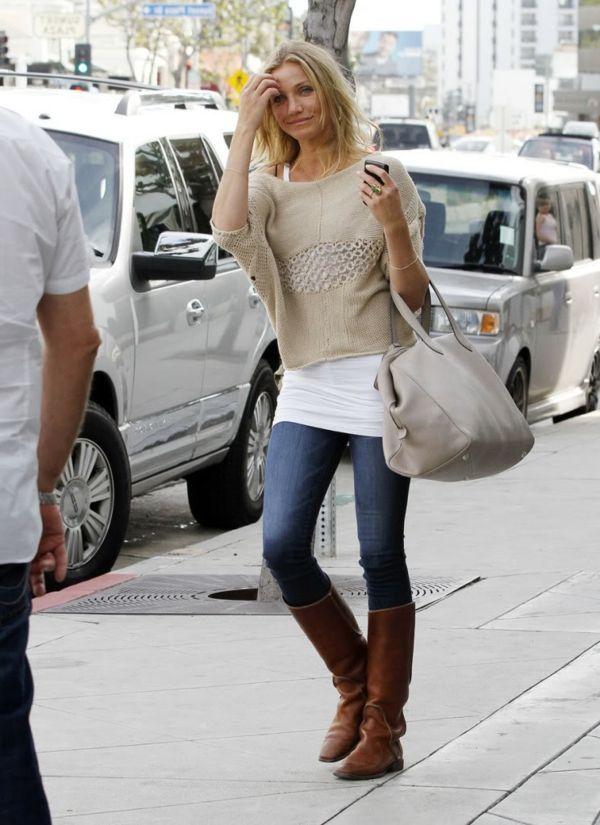 look bohême jean | Cameron Diaz dans les rues de LA