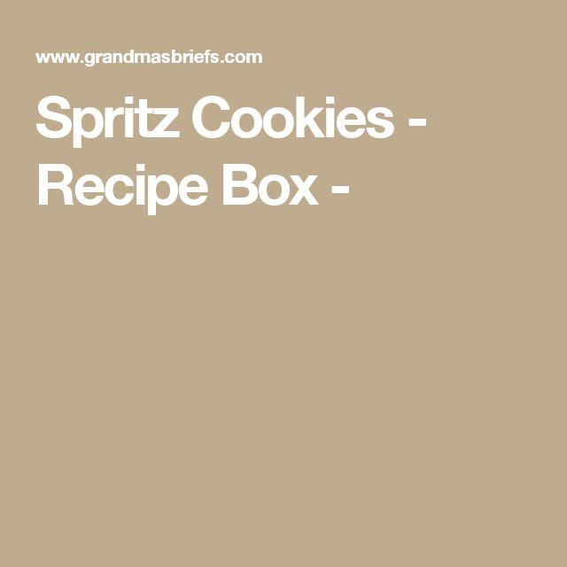 SpritzCookies - Recipe Box -