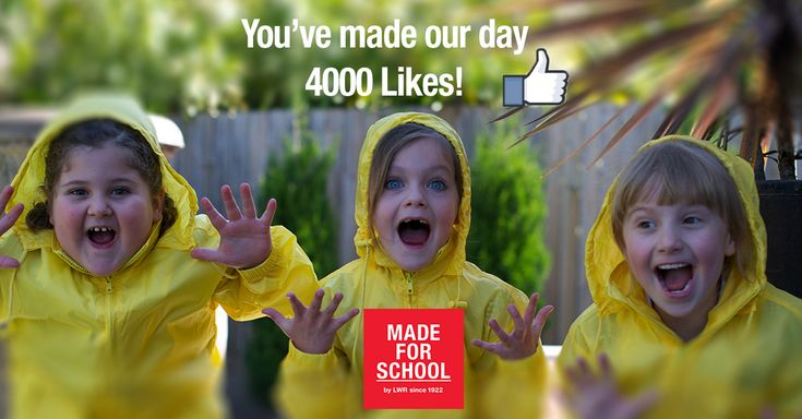 There's much excitement at Made For School and that's all because of you! We've just hit 4000 likes on Facebook…