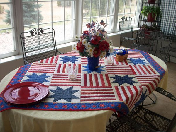 Directions for the Easy Patriotic Quilt (table topper)