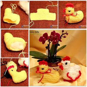 Wonderful DIY Simple Easter Knitted Chicken