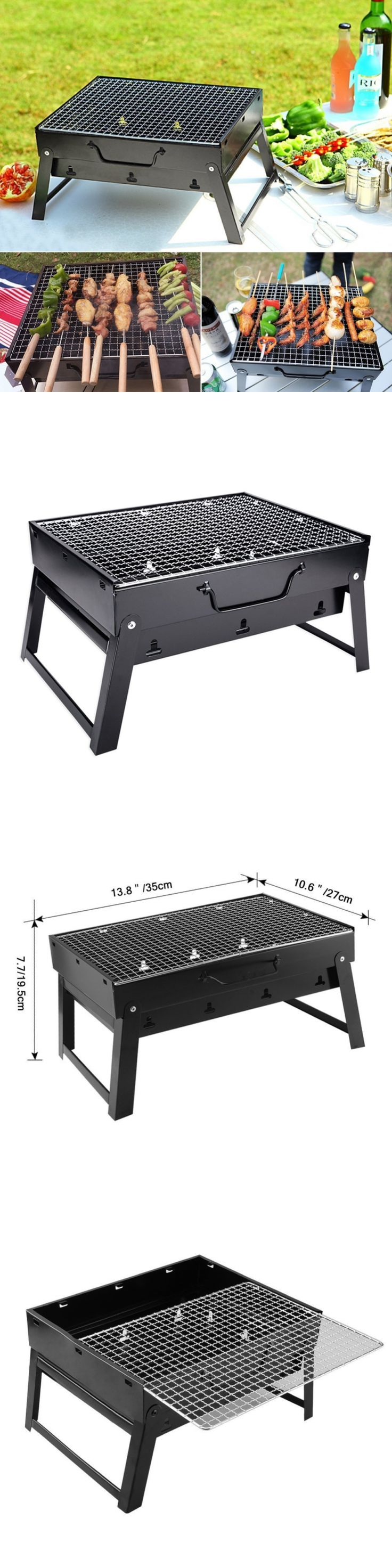 Barbecues Grills and Smokers 151621: Charcoal Bbq Grill Folding Portable Stainless Steel Barbecue Grill For Outdoor C -> BUY IT NOW ONLY: $36.68 on eBay!