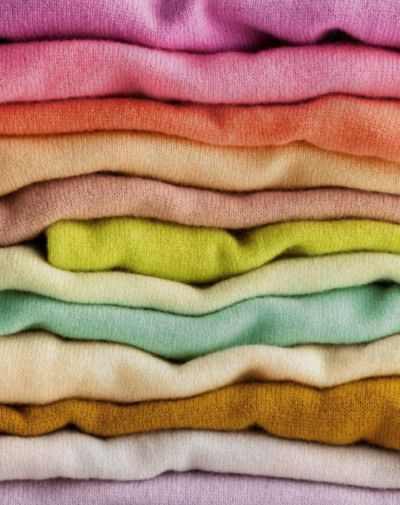 Despite what it says on the tag, cashmere is best washed by hand. To dry it, use a salad spinner, which releases excess water in seconds.