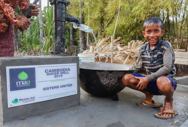 Water Well in Cambodia being put to good use!  Donate to support more projects like this today:  http://www.muslimaid.org.au/our-projects/water-sanitation   #MuslimAidAustralia #waterwell