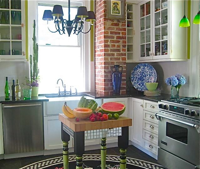 35 Kitchen Island Designs Celebrating Functional And: 33 Best Images About Exposed Brick Chimney Kitchen On