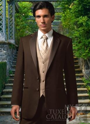 @Annie Hantelman   brown tux? light brown vest and tie? i like it :)
