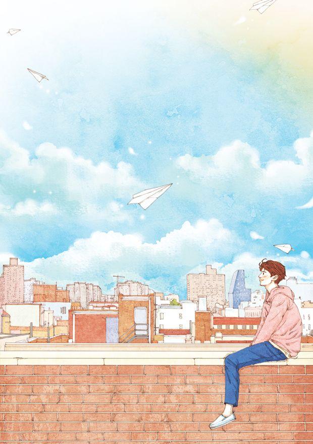 바람에 날리는 종이비행기를 보며 내 무거운 마음도 날려 보내기-