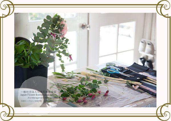 JFLA Study Room.Flower School in Japan-Tokyo.JFLA東京/世田谷本部華夢フラワーデザインスクールのレッスンスタジオ♡