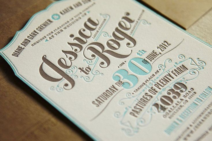 flourish letterpress