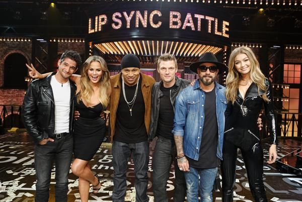 Gigi Hadid performs with Backstreet Boys for 'Larger Than Life' on 'Lip Sync Battle'