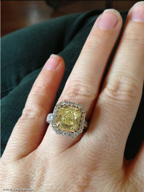 Kelly Clarkson and Other Stars With Yellow Engagement Rings