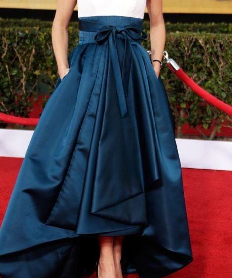 Long skirt, uzun etek, mavi