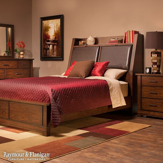 The Windridge Bedroom Collection Will Immediately Attract You With Its  Beautiful Burnished Ash Finish, Leather
