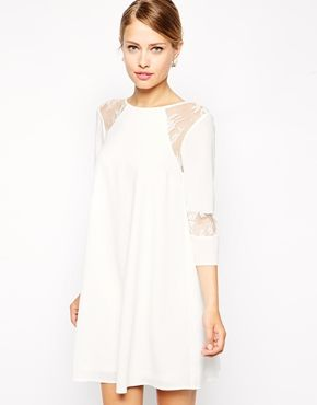 Enlarge ASOS Swing Dress with Pretty Lace Inserts