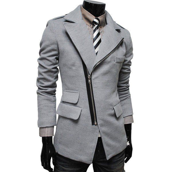 Slim Handsome Woolen Dust Coat Wind Coat with Lapel Collar/79351 via AmaSell. Click on the image to see more!