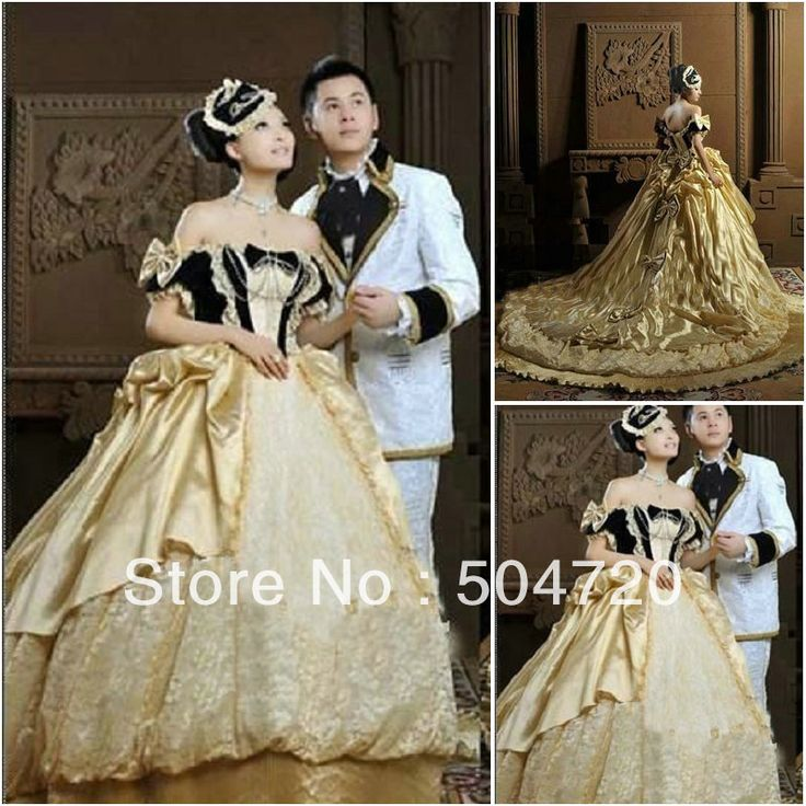 1860s Luxs Gold Civil War Southern Belle Gown evening Dress/Victorian Lolita dresses/scarlett dress US6-26 V-238