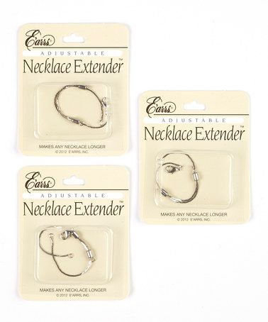 Take a look at this Silver Adjustable Necklace Extenders - Set of Three by E'arrs on #zulily today!