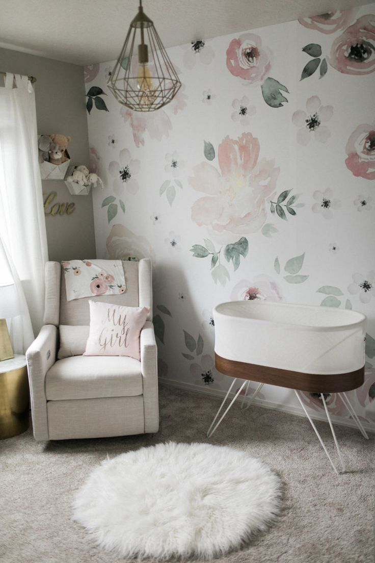 Light and Airy Floral Nursery 559 best