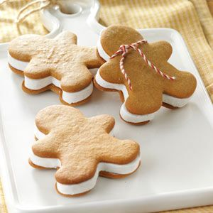 Gingerbread Ice Cream Sandwiches Recipe from Taste of Home -- shared by the Taste of Home Test Kitchen