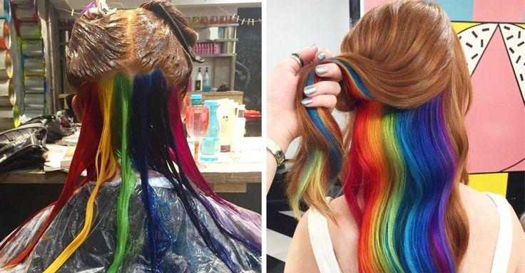 Las tendencias cambian más rápido que nunca, sobre todo cuando se trata de la moda. La nueva tendencia en Instagram es el color arcoíris oculto y es increíble