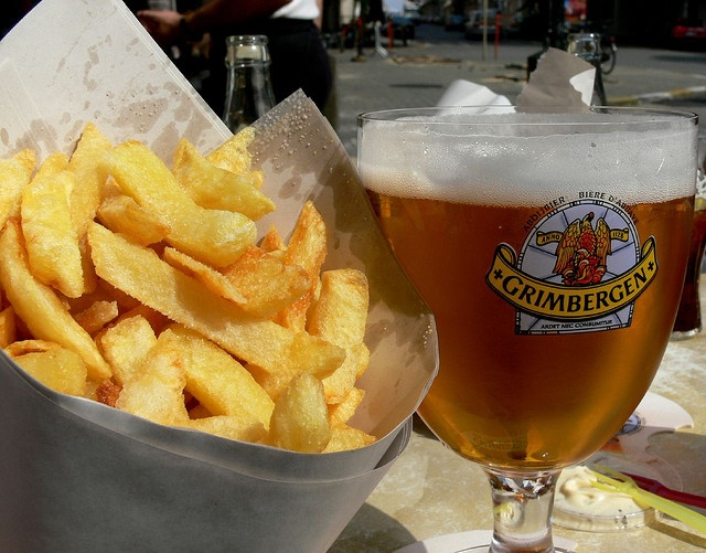 Belgian beer & frites...not FRENCH FRIES people