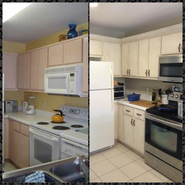 Before And After Still A Lot To Finish In Our Kitchen