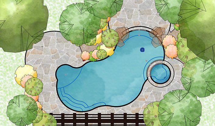 3d Pool And Landscaping Design Software Overview Vip3d Landscape Design Software Freeform Pool Designs Software Design