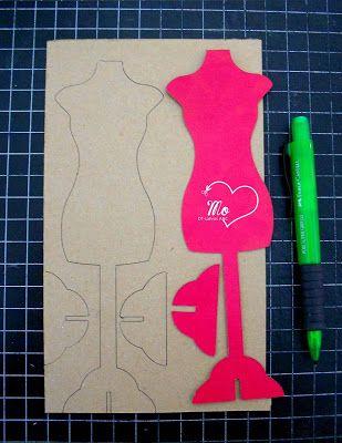 Tutorial Maniquí 3D   Latinas Arts and Crafts: Vestidas de Rosa