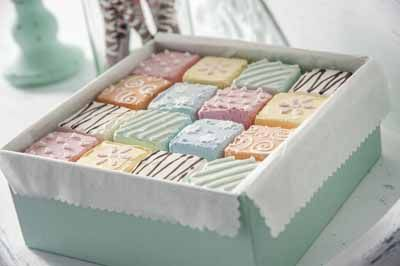 Learn how to DIY Decoupage - Decoden Petit Fours #plaidcrafts