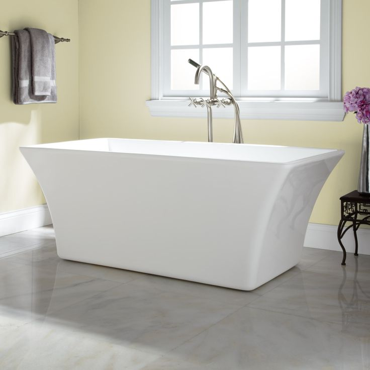 17 best images about freestanding acrylic bathtubs on for Best acrylic tub