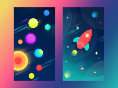 Free Space Wallpapers by Ludmila Shevchenko for Tubik Studio