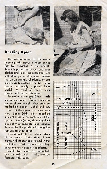 kneeling apron tutorial from 1944 USDA farmer's bulletin
