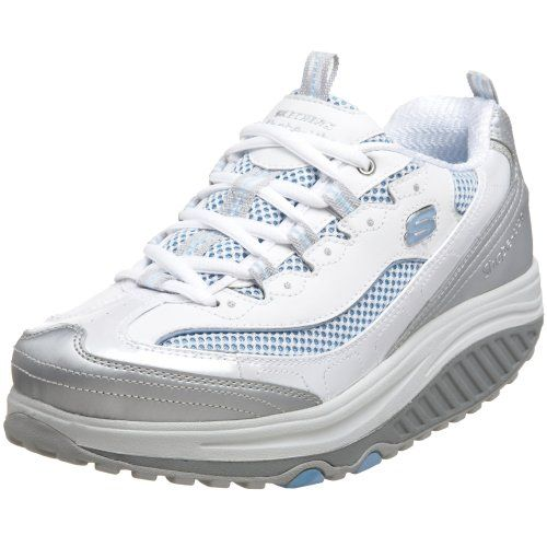 Skecher shape-up. Also a great shoe after an ankle fusion because the sole rolls.