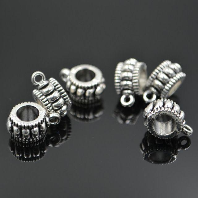 Оптовая Моды DIY 30 шт./лот Тибетские Серебряные Подвески Шарики Прокладки для изготовления ювелирных изделий