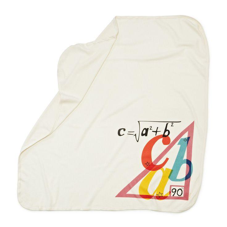 PYTHAGOREAN THEOREM SWADDLING BLANKET | Nerd Baby Blanket, Tiffany Ard | UncommonGoodsNerdy Baby, Geek Baby, Nerd Baby, Baby Einstein, Swaddle Blankets, Pythagorean Theorem, Theorem Swaddle, Baby Blankets, Awesome Nerdy